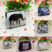 Women Lady Wallet Card Holder Case Mini Clutch Handbag Change Coin Purse Bags