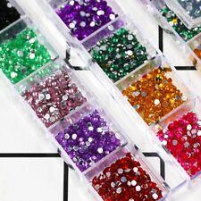 1 Box Nail Art Supplies Glitter Crystal Rhinestones 12 Colors Nail Decorations