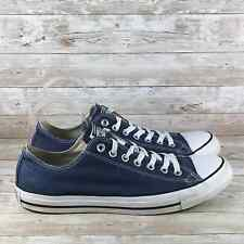 Converse All Star Low Mens Size 10 Navy Blue Canvas Casual Walking Sneakers