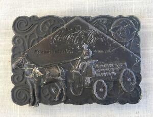 Vintage Solid Brass Coca-Cola Belt Buckle - Horse & Cart