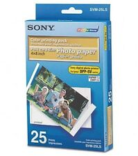 New Sony SVM-25LS (1 Print Cartridge & 25 Sheets of Photo Paper Pack)