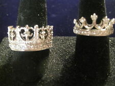 CROWN OR TIARA RINGS IN STERLING SILVER & ROHADIUM PLATED & CZs IN MANY SIZES