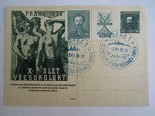International Philately Exhibition Praga 1938 postmarks Prague Czechoslovakia
