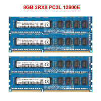 For Hynix 8GB 16GB 2RX8 PC3L-12800E DDR3L-1600MHz 1.35V ECC Unbuffered Memory