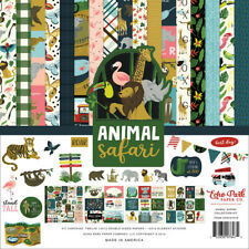 Echo Park Kit ANIMAL SAFARI 12 Double-Sided Papers & 1 Element Sticker Page