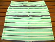 Straight, Pencil Striped 100% Cotton Skirts for Women