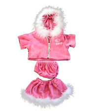 """Pink """"Love"""" Dress Teddy Bear Clothes Outfit Fits Most 14"""" - 18"""" Build-a-bear and"""