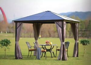 3x3m metal gazebo With Hard UV Protected Roof