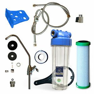 Wasserfilter Untertischfilter System Bausatz passend für Carbonit Patronen