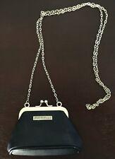 VINTAGE Retro FIORELLI Small Black PU Shoulder Chain Bag