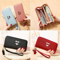 Women Clutch Faux Leather Wallet Long Card Holder Phone Bag Case Purse Handbags