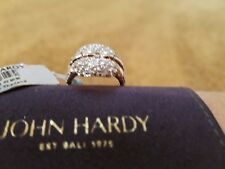 John Hardy White Topaz & Sterling Silver Square Link Ring