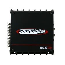 SounDigital 400.4D EVO Series 400W 4-Channel Car Audio Compact Amplifier NEW