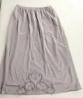 Vintage 60s Vanity Fair Purple Gray Nylon Lace Embroidered Half Slip S