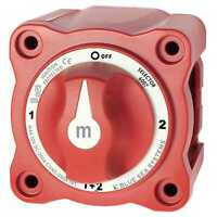 Blue Sea 6007 M-Series Selector Battery Switch 4-Position Marine Red