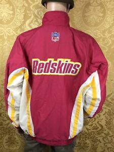 vintage REEBOK NFL PROLINE Washington Redskins Football Stadium Puffer Jacket L