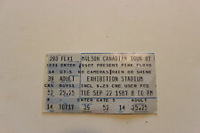 Pink Floyd Original Concert Ticket Stub 9/22/1987 Canadian Tour Roger Waters