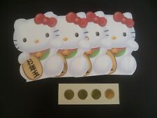 1 set 4 pcs  Ang Pow Red Packet  @ Die cut Sanrio Hello Kitty w stickers (#25)