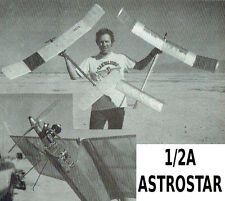 "Model Airplane Plans (FF): ½A ASTROSTAR 48¼"" Wingspan for .049 Competition Model"