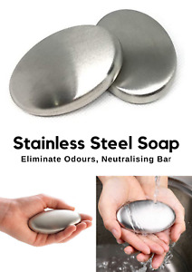 2 Kitchen Chef Soap Stainless Steel Hand Odor Remover Bar Garlic Fish Odour