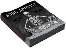 Halloween Terror esqueleto hueso APETIT Servilletas Paño Decoración Fiesta Broma