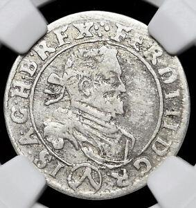 AUSTRIA, Vienna. Ferdinand, Silver 3 Kreuzer, 1630, NGC VF30