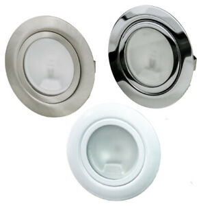1-10er Set Möbeleinbaustrahler Phobos IP20 12V G4 + 20W Leuchtmittel Dimmbar
