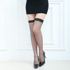 Sexy Thigh-High Fishnet Stockings hold-ups lingerie pantyhose BLACK 215