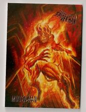 2017 FLEER ULTRA SPIDER-MAN BASE CARD #6 MOLTEN MAN