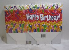 6 Count Happy Birthday Open Decorative Box Display Treats Party Thick Cardboard