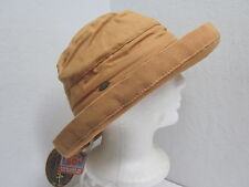 New Scala ladies cotton canvas crusher hat - UPF50+ - one size = Small to Large
