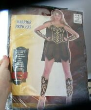 NWT Adult Warrior Princess Costume Size Medium (6-8) 8 Piece Set Costume Role