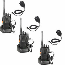 3x Handheld Retevis H-777 Walkie Talkie UHF 5W 16CH 2-Way Radio + 3x Speaker Mic
