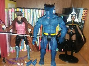 Marvel Diamond Select X-MEN TEAM - Loose LOT of 3: Gambit, Beast, and Storm