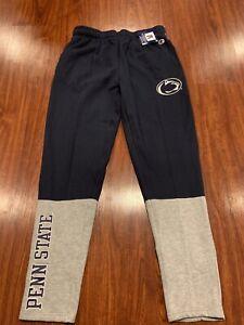 Champion Men's Penn State PSU Football Navy Gray Jersey Sweatpants Pants Large L