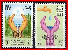 QATAR 1994 UNO/ONU WATER DAY SC#844-45  MNH ** FOOD