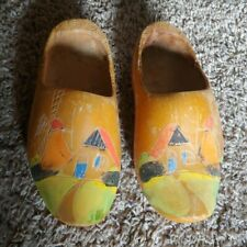 Vintage Holland Klompen Pair Of Small Wooden Shoes