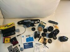 Minolta X-370 Camera with Multiple Lens and Camera Bag