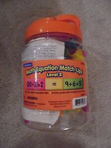Lakeshore Math Equation Match Ups Level 2 ~ Homeschool Math Manipulative