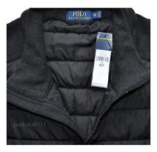 New $185 Polo Ralph Lauren Men's Big &Tall Paneled Full-Zip Vest Black 2XLT/2LT