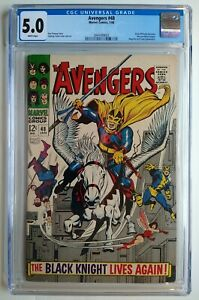 THE AVENGERS #48! CGC 5.0! DANE WHITMAN BECOMES THE NEW BLACK KNIGHT! NO RES!
