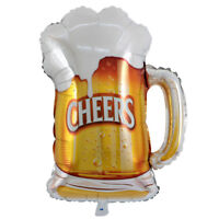 Beer Mug Cheers Balloons Helium Foil Balloons for Birthday Pool Party Decor LE
