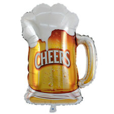 Beer Mug Cheers Balloons Helium Foil Balloons for Birthday Pool Party Decor%