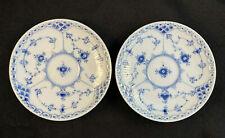 New ListingSet/2 Royal Copenhagen 525-626-656 Blue Fluted Half Lace Saucers 1st Quality