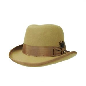 Stacy Adams Wool Homburg Men's Felt Hat Size XL