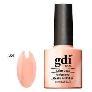 GDI NAILS - U07 WARM PEACH - SUBTLE NUDE - UV LED GEL NAIL POLISH VARNISH
