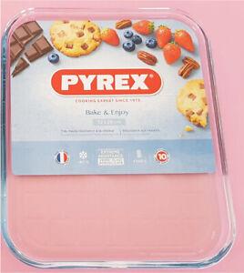 "Pyrex Borosilicate Clear Rectangle Baking Tray - Glass 12"" X 10"""