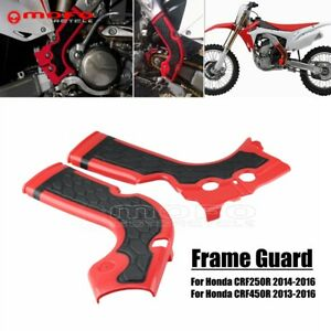 For Honda CRF250R 2014-2016 CRF450R 2013-2016 Motorcorss X-Grip Red Frame Guards