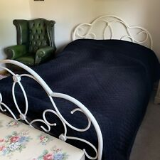 DORMA Kensington Luxury Black Velvet Quilted Double Bedspread Throw 235 X 235