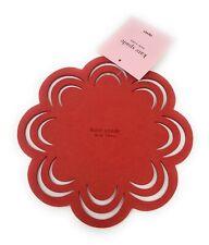 Kate  Spade  N.Y. Holiday Red Scallop Petal Felt Trivet,NWT